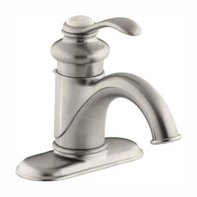 Fairfax Single Hole Single Handle Low-Arc Water-Saving Bathroom Faucet in Vibrant Brushed Nickel