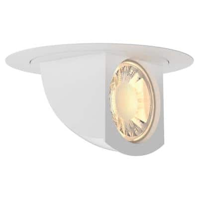 5 in./6 in. Color Selectable Integrated LED Retrofit White Recessed Trim Directional Downlight (4-Pk)