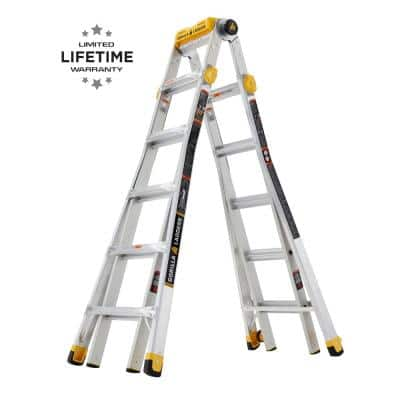 23 ft. Reach MPXT Aluminum Multi-Position Ladder with Project Top, 375 lbs. Load Capacity Type IAA Duty Rating