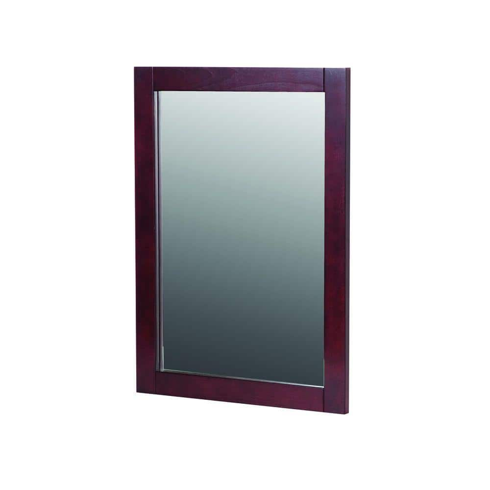 Reviews For St Paul 20 In W X 27 In H Framed Rectangular Bathroom Vanity Mirror In Dark Cherry Sywm20com Dc The Home Depot