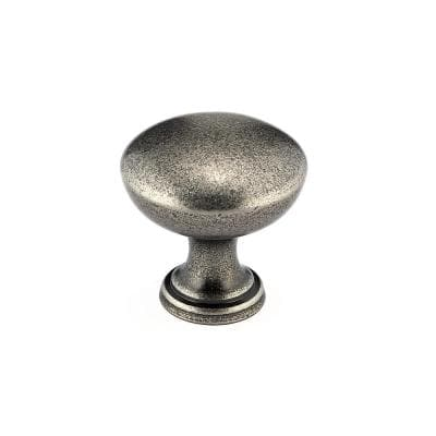 1-3/16 in. (30 mm) Pewter Traditional Metal Cabinet Knob