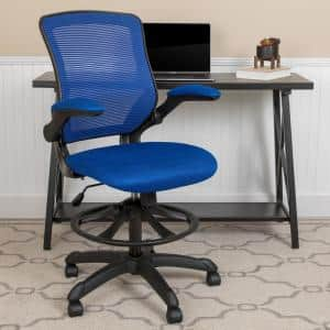 Blue Mesh Drafting Chair