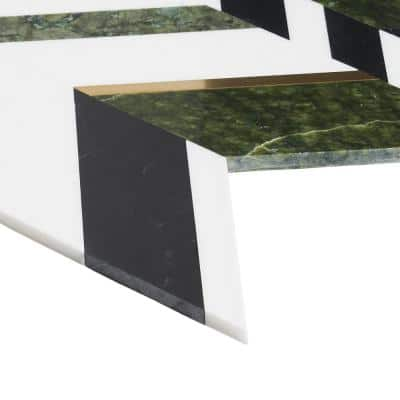 Tyra Verde Jade 11.81 in. x 18.89 in. Polished Marble Wall Mosaic Tile (1.55 sq. ft./Each)