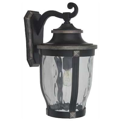 McCarthy 1-Light Bronze Outdoor Wall Lantern Sconce