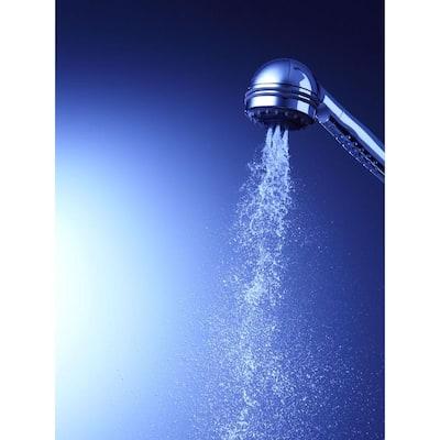 MasterShower 3-Spray 2.3 in. Single Tub Deck Mount Handheld Shower Head in Polished Chrome