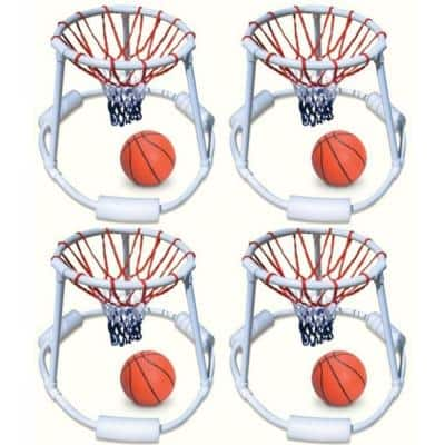 Pool Quality Floating Super Hoops Fun Basketball Games (4-Pack)