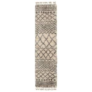 Caspian Cream 2 ft. x 12 ft. Moroccan Runner Rug