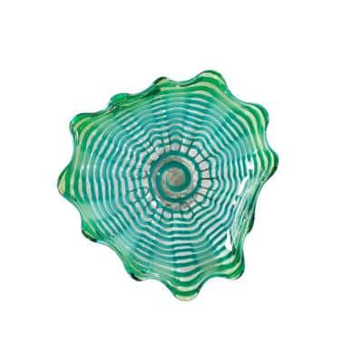 Waterfront 2 in. Wall Art Decor with Hand Blown Art Glass Style