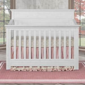 Waverly Weathered White 5 in 1 Convertible Crib