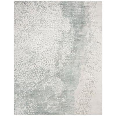 Mirage Blue 9 ft. x 12 ft. Abstract Area Rug