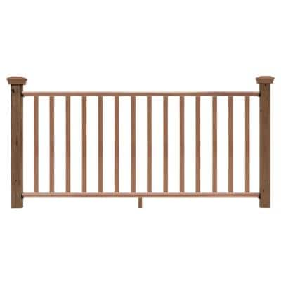6 ft. Redwood Routed Rail Kit with SE Balusters