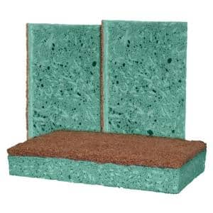 Outdoor Soap-Infused XL Heavy-Duty Odor and Bacteria Resistant Scrub Sponge (3-Pack)