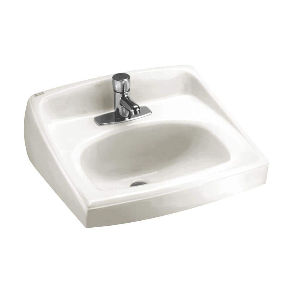 American Standard Lucerne Wall Mount Bathroom Vessel Sink In White 0356 421 020 The Home Depot
