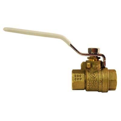 1/4 in. Lead Free Brass FNPT x FNPT Full-Port Ball Valve