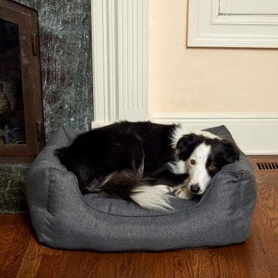 Willow Small Charcoal Olefin Cuddler Pet Bed