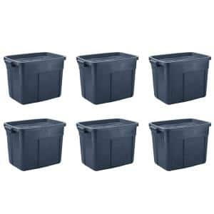 Roughneck 18 Gal. Rugged Stackable Storage Tote Container (6-Pack)
