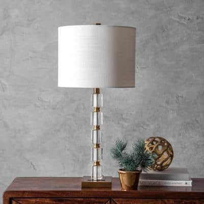 Manhattan 29 in. Brass Glam Table Lamp, Dimmable