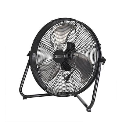 20 in. 3-Speed High Velocity Shroud Floor Fan