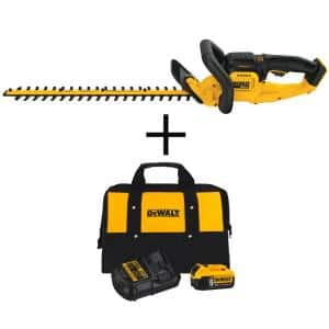 22 in. 20V MAX Lithium-Ion Cordless Hedge Trimmer (Tool Only) with Bonus 20V MAX Lithium-Ion Starter Kit Included