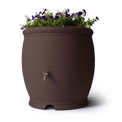 Barcelona 100 Gal. Rain Barrel in Brownstone