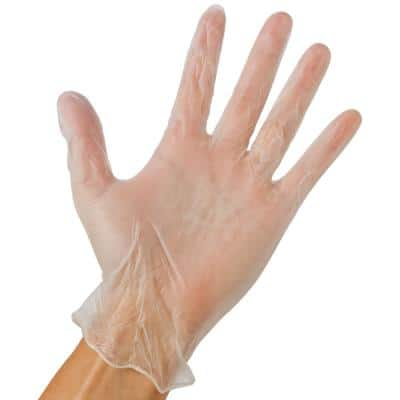 Pro Cleaning Disposable Vinyl Gloves 1 size (100-Count)