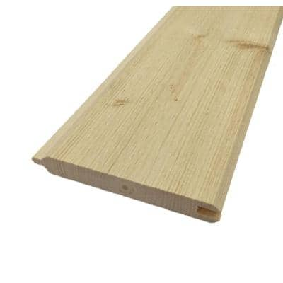 1 in. x 6 in. x 6 ft. Pine Tongue and Groove Common Siding Plank (6-Pack)