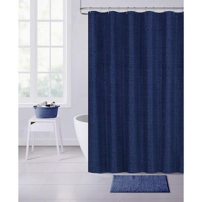 Paris 70 in. x 72 in. Navy Shower Curtain