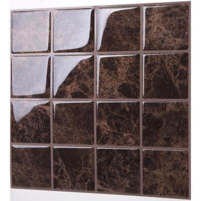 Marmo Marte 10 in. W x 10 in. H Peel and Stick Self-Adhesive Decorative Mosaic Wall Tile Backsplash (10-Tiles)