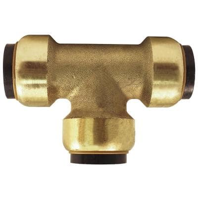 3/4 in. Brass Push-to-Connect Tee