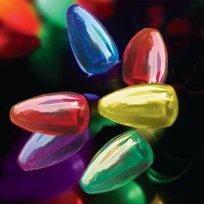 150-Light C6 Transparent Multicolor LED String Light Set
