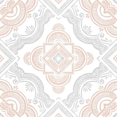 Cecilia 12 in. W x 12 in. L White Peel and Stick Floor Vinyl Tile (20 Tiles, 20 sq. ft. case)