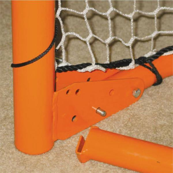 EZGOAL Lacrosse Goal Folding Metal Steel Frame with Throwback Kit 6 ft x 6 ft.