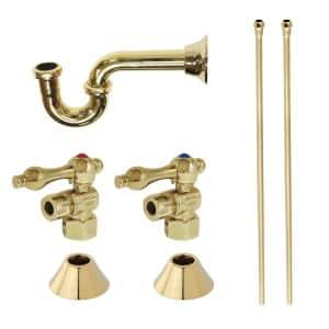 Trimscape Traditional 1-1/4 in. Brass Plumbing Sink Trim Kit with P-Trap in Polished Brass