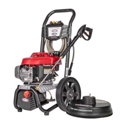 MegaShot MS60805-S 3000 PSI at 2.4 GPM HONDA GCV160 Cold Water Pressure Washer with 15 in. Surface Scrubber