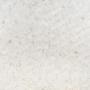 Koror Calacatta 11.73 in. x 12 in. Matte Marble Floor and Wall Mosaic Tile (0.97 sq. ft./Sheet)