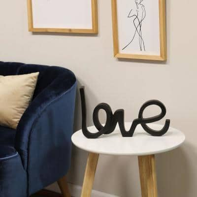 """Love"" Freestanding Letter Shapes Tabletop Decor"