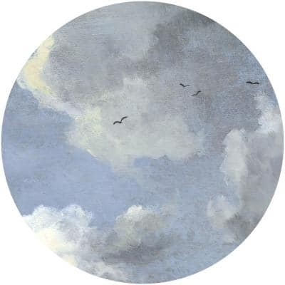 Simply Sky Blue Non Woven Dot Decal