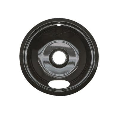 8 in. A Style Drip Pan in Black Porcelain
