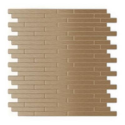 Kellie Light Copper 12.09 in. x 11.97 in. x 5 mm Metal Peel and Stick Wall Mosaic Tile (1.0 sq. ft./Each)