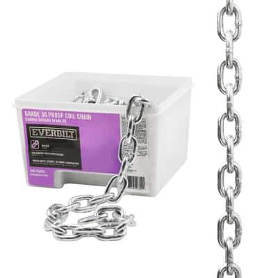 3/8 in. x 1 ft. Grade 30 Zinc Plated Steel Proof Coil Chain