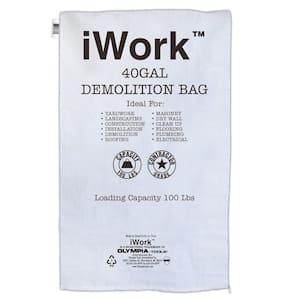 40 Gal. Contractor Trash Demolition Bags (20-Count)