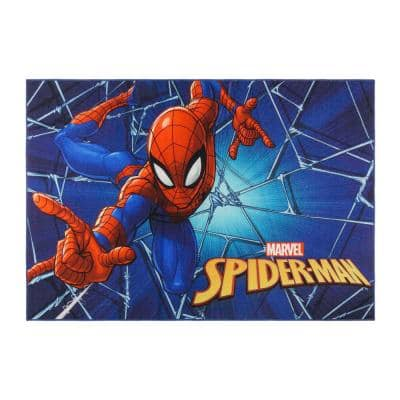 Spider-Man Web Multi-Colored 5 ft. x 7 ft. Indoor Polyester Area Rug