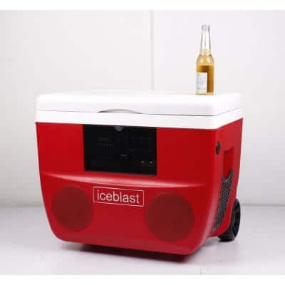 50 l Portable Cooler with High Power Bluetooth Speaker System