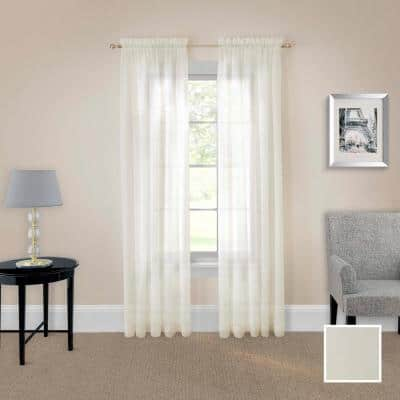 taupe Solid Rod Pocket Room Darkening Curtain - 118 in. W x 84 in. L (Set of 2)