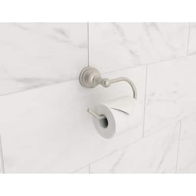 Allura Single Post Toilet Paper Holder in Satin Nickel