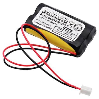 2.4-Volt 600 mAh Ni-Cd battery for Encore - 50-1008 Emergency Lighting
