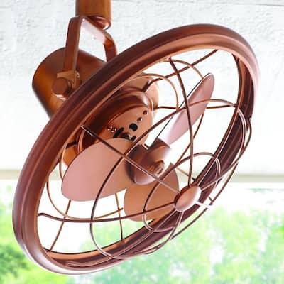 Bentley II 18 in. Indoor/Outdoor Weathered Copper Oscillating Ceiling Fan with Wall Control