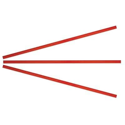 15 in. x 0.39 in. Red Glass Pencil Tile Trim (3-Pack)
