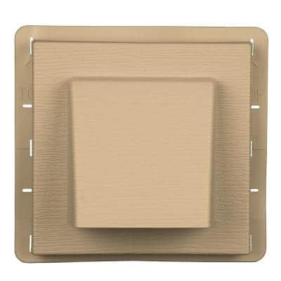 8 in. x 7.875 in. Water Management 4 in. Hooded Vent in #045 Sandstone Maple