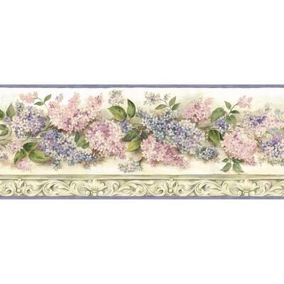 Ethel Cream Heirloom Lilacs Trail Cream Wallpaper Border